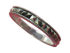 Judith Jack Sterling Silver Band Ring Marcasite Size 8.5 Designer Jewelry 217h