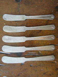 Butter Spreaders Individual Size Vintage Set of Eight Gorham \u201cNew Elegance\u201d Pattern Silver Plate