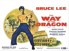 Way of the Dragon (2) - Bruce Lee - A4 Laminated Mini Movie Poster
