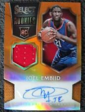 JOEL EMBIID #58/60 2014-15 SELECT ORANGE AUTO JERSEY PHILADELPHIA 76ERS RC