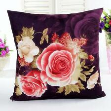 Flower Printing Dyeing Peony Sofa Bed Home Decor Pillow Case Cushion Cover Gift