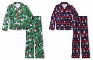 Boys Pajamas Size 6-7, 10-12 S-Large Fleece/Flannel Winter Fair Isle Snowman NEW