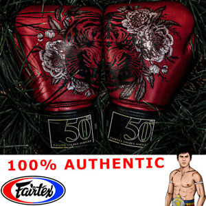 FAIRTEX Gloves BGV 50th Golden Jubilee Muay Thai Boxing EXCLUSIVE 100% GENUINE