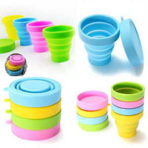 Portable Silicone Telescopic Drinking Collapsible Folding Cup Travel CampingHFSI
