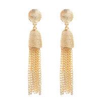 Women's Fashion Elegant Metal chain Long Tassel Earrings Ear Stud Jewelry Gift