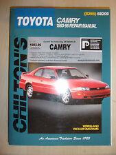 TOYOTA CAMRY CHILTON REPAIR MANUAL PETROL DIESEL 2WD 4WD AUTO 2L>3.0L 1983-1996