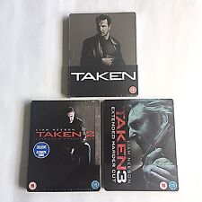 Taken Trilogy 1-2-3 Blu-ray Steelbook [UK] Play.com/Zavvi/HMV Exclusive! NEW!