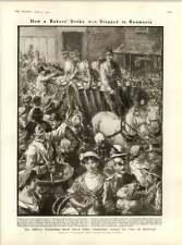 1909 la distribución de pan Bucarest panaderos militar mujeres sándwich de huelga en París