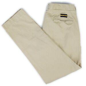 Rugby Ralph Lauren Khaki Cotton Antique Slim Fit Chinos Pants Trousers 34
