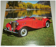 1953 MG TD Roadster car print (red, no top)
