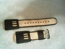New Speidel Band Strap Black Leather Yellow Fit Casio G Shock Watch 16mm