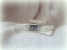 Personalised Christening Bracelet - Solid Sterling Silver Child Baby Bangle