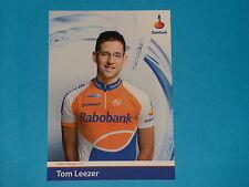 CARTE POSTALE CYCLISTE -TOM LEEZER - EQUIPE  RABOBANK  -  TOUR DE FRANCE