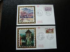 FRANCE - 2 enveloppes 1er jour 1991 (carennac-vallee de munster) (cy21) french