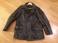VTG UNBRANDED BLACK  FIGTH CLUB STYLE LEATHER JACKET 44 GREAT PATINA