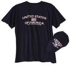 United States of America Patriotic Shirt With Matching Baseball Hat Set Large