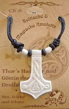 Knochen Thorshammer Anhänger Wikinger ODIN Thor Hammer Walhalla Wotan Amulett