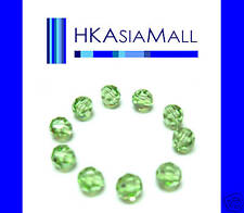 10 Swarovski Crystal Beads Round 5000 PERIDOT 6mm