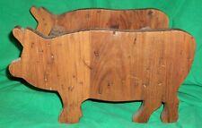 VTG KITCHEN DECOR PIG SWINE PIGLET PORK WOOD CUTTING BOARD WALDEN CREEK NEW YORK