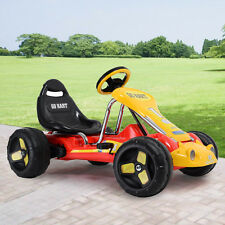 Kids Ride Go Kart 4 Wheel  on Car Stealth Pedal Powered Outdoor Racer Red