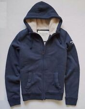 New Abercrombie & Fitch Men's Sherpa Hoodie Jacket Size Small