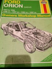 HAYNES WORKSHOP MANUAL 1009 FORD ORION 1983 to  1990 PETROL .
