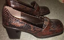 Enzo Angiolino Women's Pumps Brown Leather Skin 7.5M