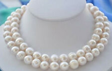 """NEW 10-11MM NATURAL SOUTH SEA WHITE BAROQUE PEARL NECKLACE 34"""""""