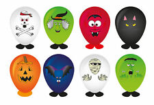 8 Halloween Balloon Heads Trick or Treat Toy Stocking Filler