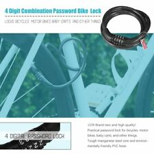 4 Digit Combination Password Bike Bicycle Lock Steel Wire Security Cable J0