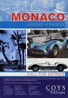 2003AUC Coys Auction Oldtimer Classic Cars DINA4 Poster Monaco 2007 21.5.07