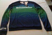 NFL Team Apparel Mens Knit LS Seattle Seahawks shirt Medium NWT