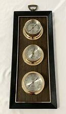 Vintage Springfield Wall Barometer Thermometer Humidity Weather Station Works