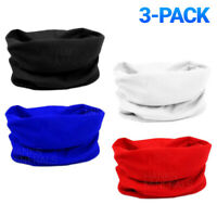 3-Pack Tube Bandana Scarf Head Face Neck Headband Cloth Cover Multi Use Gaiter