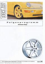 Prospekt techart llantas Performance Design 1994 12 94 Porsche 911 928 944 automóviles