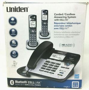 Uniden Cordless Phone Corded Celllink Answering System Bluetooth DECT 6.0