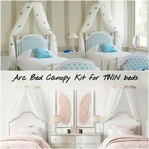 Bed Canopy Coronet Kit Wall Fixed frame system for TWIN Beds Easy fix frame