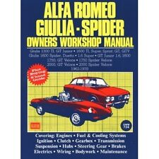 Alfa Romeo Giulia Spider Owners Workshop Manual 1962-1978 book paper car