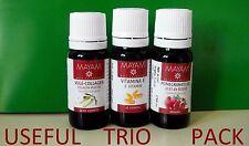 POMEGRANATE, E VITAMIN,vege collagene OIL trio100% PURE  ANTI AGING HEALTHY SKIN