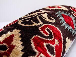 Pepper design Silk Velvet ikat pillow cushion home decorative ikat sofa lumbar