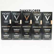 VICHY DERMABLEND FLUID FOUNDATION 05, 15, 20, 25, 30, 35, 45, 55, 30ml FAST SHIP