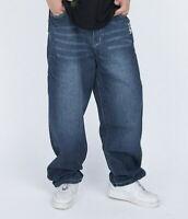 Mens Jeans Skateboard Pants Denim  Hip-Hop Baggy Loose Streetwear Stonewashed