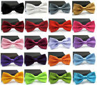 Men's Fashion Tuxedo Satin Plain Solid Color Adjustable Wedding Bowtie Bow Ties