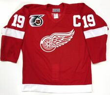 STEVE YZERMAN 1991 DETROIT RED WINGS AUTHENTIC CCM NHL 75th JERSEY SIZE 44 MED