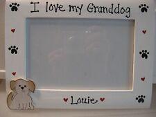 Dog Frame I LOVE MY GRANDDOG- DOG custom personalized pet photo picture frame
