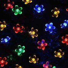 lederTEK Solar Christmas Flower Fairy String Lights 21ft 50 LED Blossom Decor