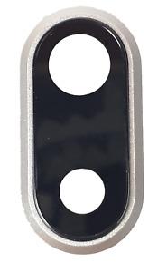 Kamera Abdeckung f. iPhone 8 Plus, Linsen Halterung Ersatz Haupt Glas, Silber