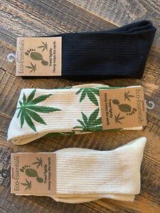Men's Hemp and Organic Cotton Socks, Hemp Leaf Socks, Men's Socks Gift Box