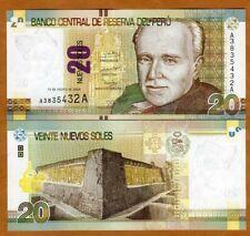 PERU 10 Nuevos Soles Banknote World Paper Money UNC Currency p187 2013 Bill Note