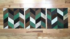 3 SURYA Rugs Leather Hair on Hide Carpet Tile Hand Craft Emerald Brown 18x18 Ea.